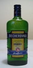 Bottle of Becherovka