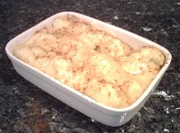 Cauliflower Cheese ready for cooking