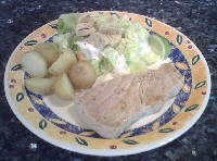 Griddled Tuna Steaks with Salad
