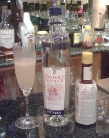 Pisco Sours in a Champagne flute