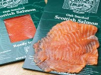 Packet of smoked salmon